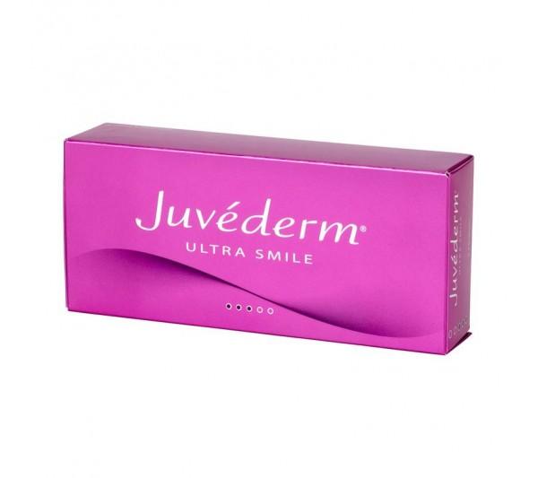 Filler Acid Hialuronic Juvederm® ULTRA SMILE, 2 seringi cu 0,55 ml, Volumizare Buze Complete, Moi, Naturale, Tratamentul Liniile Fine
