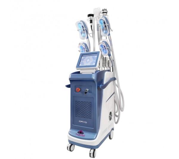 Aparat Profesional 5 Manipuli Criolipoliza 360 SuperCool, RF Fototerapie Indepartare celulita, Cavitatie 40K, Radiofrecventa Lifting Salon, CRIOSCULPTURE WIN5