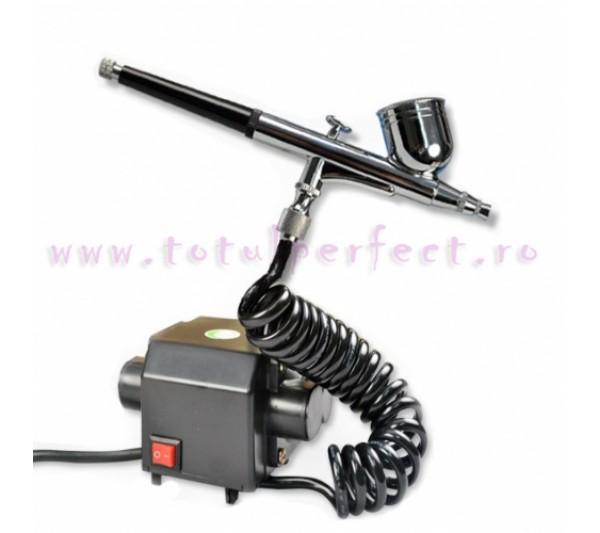 Compresor Aer Airbrush + Pistol Unghii