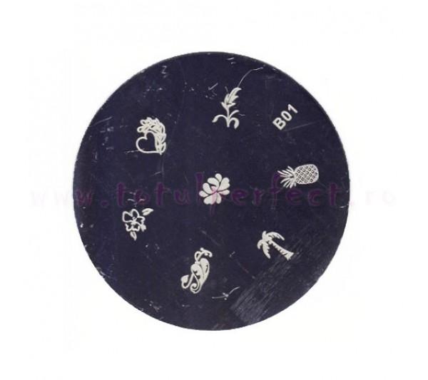 Matrita Stampila Unghii Disc 1