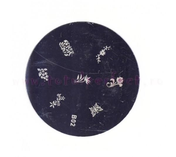Matrita Stampila Unghii Disc 2