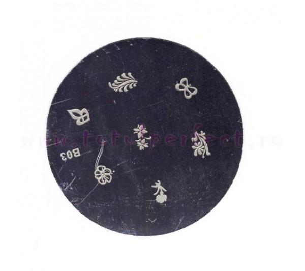 Matrita Stampila Unghii Disc 3
