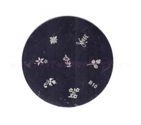 Matrita Stampila Unghii Disc 10