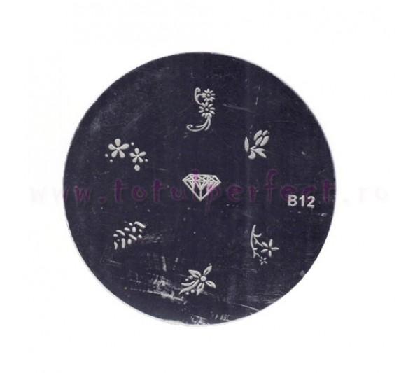 Matrita Stampila Unghii Disc 12