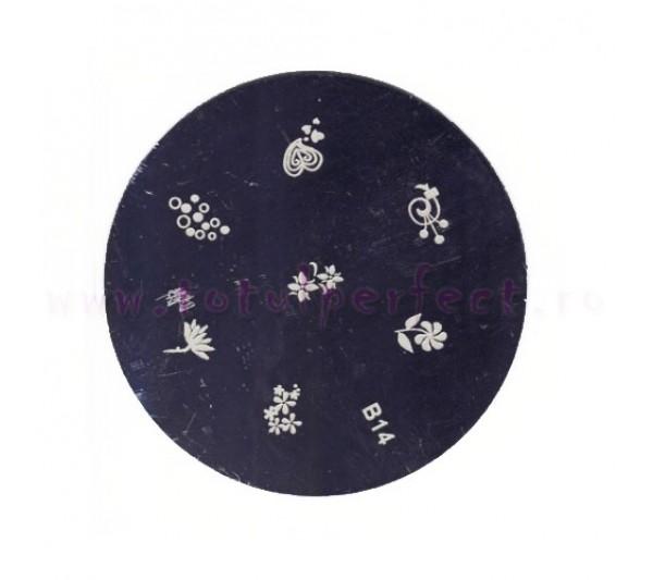 Matrita Stampila Unghii Disc 14
