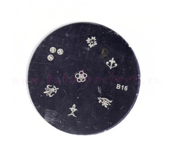 Matrita Stampila Unghii Disc 16