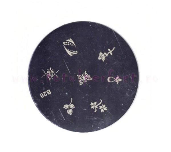 Matrita Stampila Unghii Disc 20