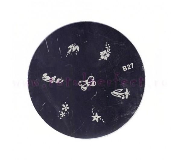 Matrita Stampila Unghii Disc 27