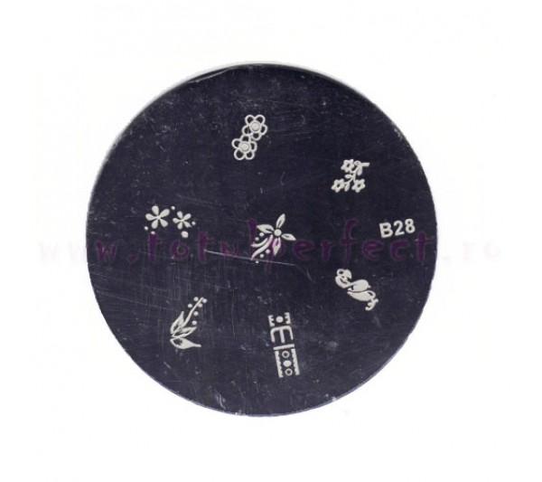 Matrita Stampila Unghii Disc 28