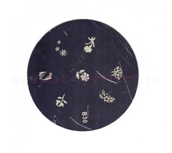 Matrita Stampila Unghii Disc 30