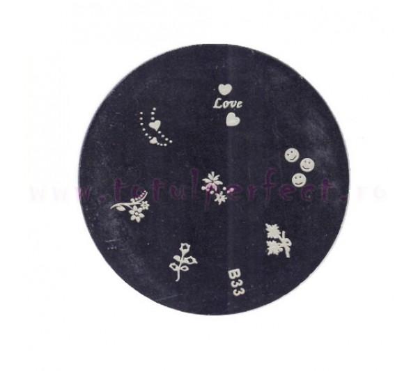 Matrita Stampila Unghii Disc 33