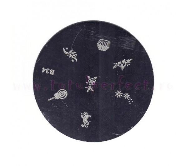 Matrita Stampila Unghii Disc 34
