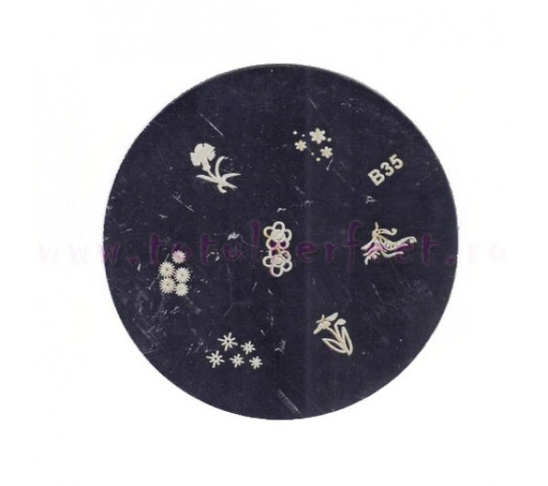 Matrita Stampila Unghii Disc 35