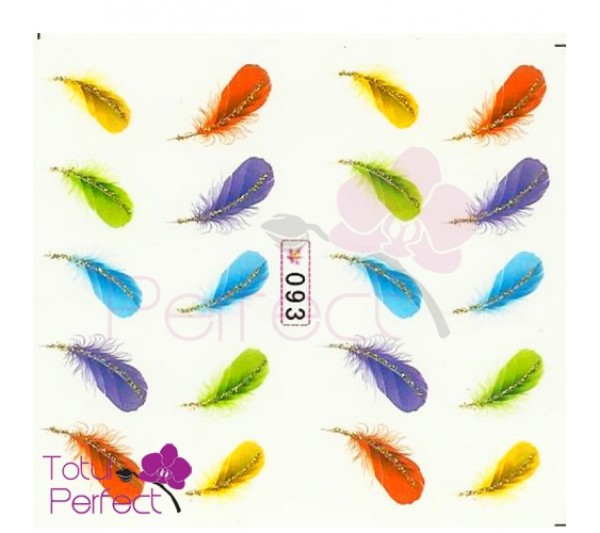 Tatuaj unghii Pene 093