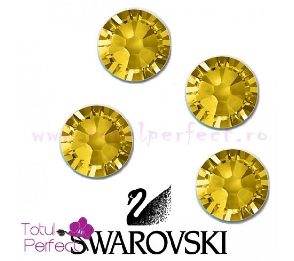 Cristale Swarovsky SS3 - 50 bucati Aurii 1+1 Gratis