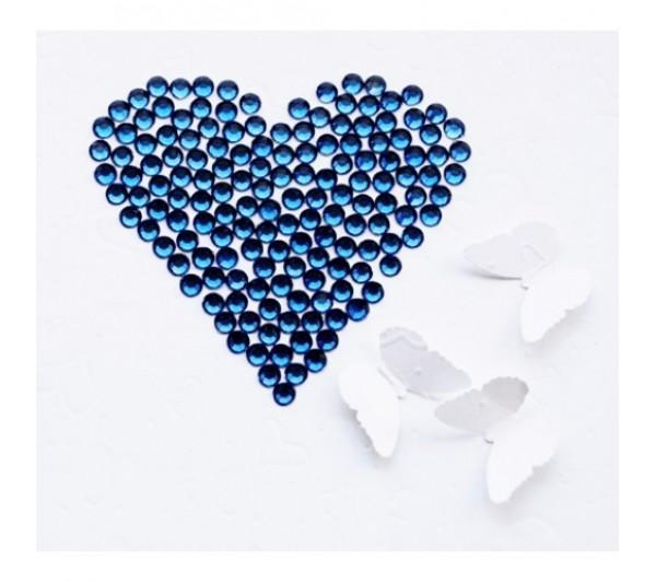 Pietricele Unghii Albastru Inchis