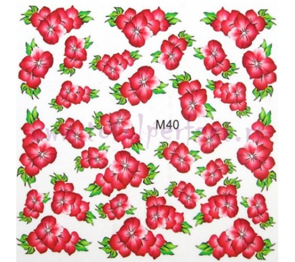Tatuaj unghii Flori - Water Paint M40