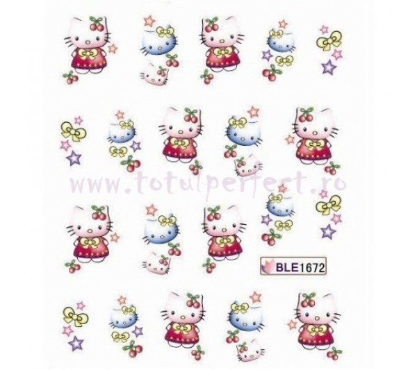 Tatuaj unghii Hello Kitty 1672