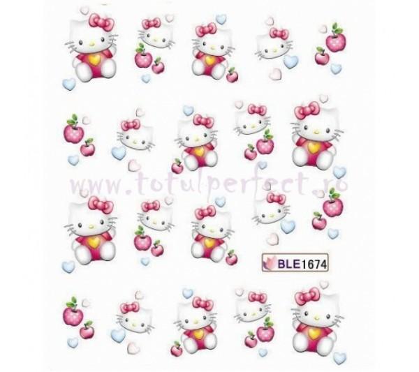 Tatuaj unghii Hello Kitty 1674