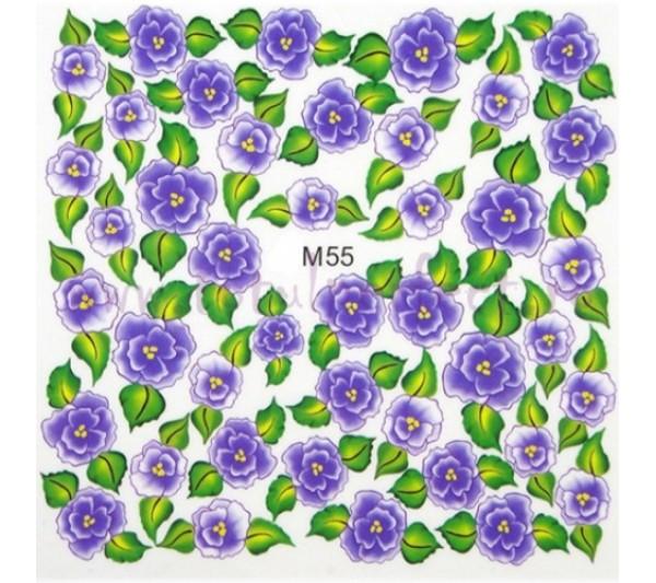 Tatuaj unghii Flori - Water Paint M55