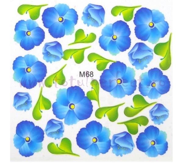 Tatuaj unghii Flori - Water Paint M68