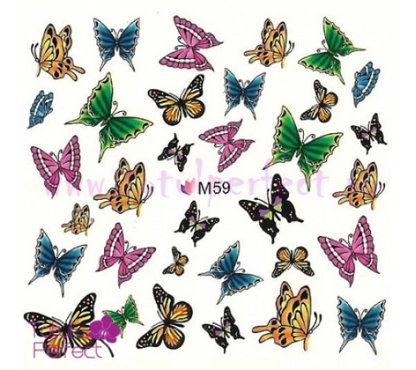 Tatuaj unghii Flori - Water Paint M105
