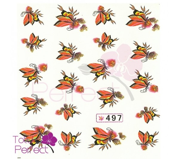 Tatuaj unghii Fluture 497