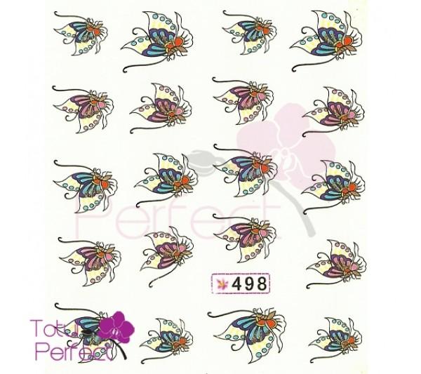 Tatuaj unghii Fluture 498