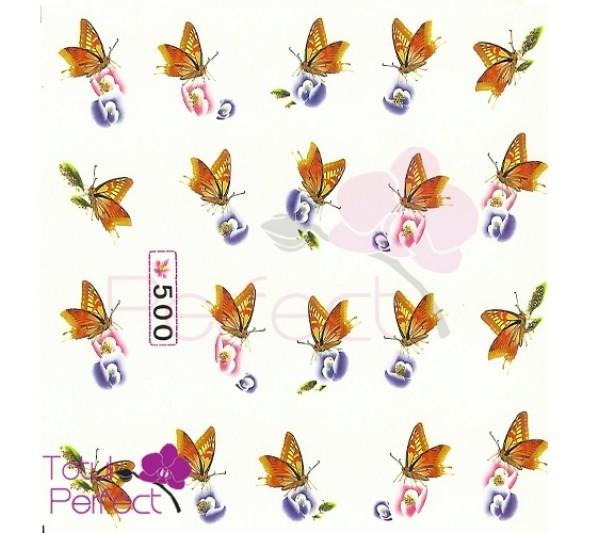 Tatuaj unghii Fluture 500