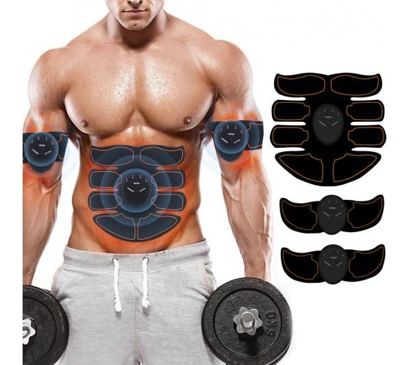 Aparat EMS Masaj Totulperfect, Tonifiere Abs Corp 8Pack, Electrostimulare musculara, Indepartare celulita, Slabire, Trainer Liftig Negru Power USB