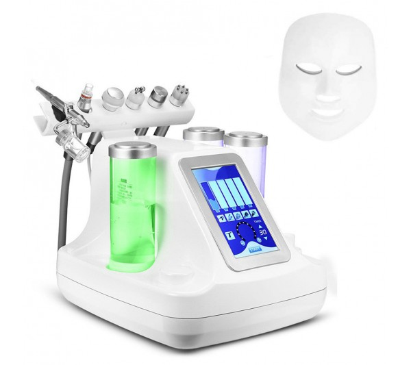 Aparat Cosmetic 7 in 1 Jet Hidroxigen Micro Bule Indepartare Puncte Negre, Dermoabraziune, Curatare, Hidratantare, Lifting Saloane, Indepartarea Acneei, Ultrasunete, RF Totulperfect
