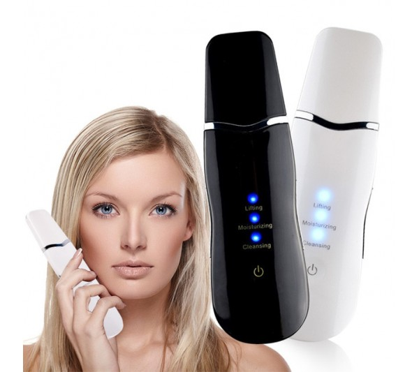 Aparat Cosmetic Skin Scrubber, Peeling Exfoliator Facial, Multi-Functional Face Lifting Beauty Machine, Black, TotulPerfect
