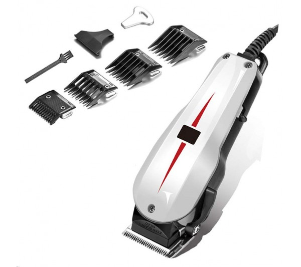 Aparat de Tuns Trimmer AC Motor Turbo Hair Clipper Salon 10W, IClipper 808, White