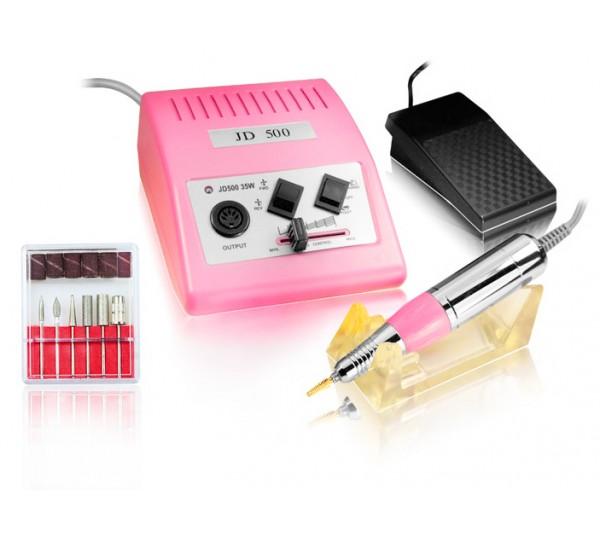 Freza Electrica Unghii Profesionala 30000RPM Roz - 500