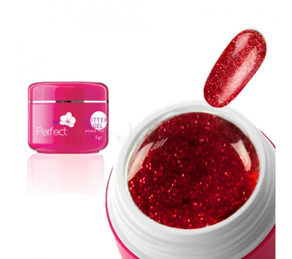 Gel uv Unghii Sclipici Red Plaza