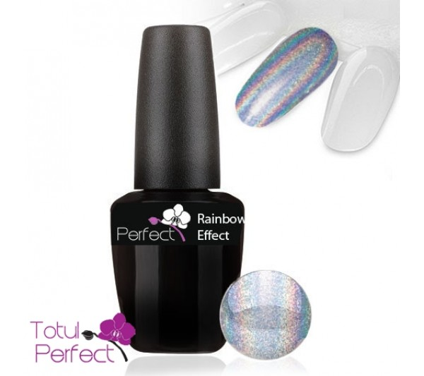 Top Coat - Efect Curcubeu Multicolor Argintiu S