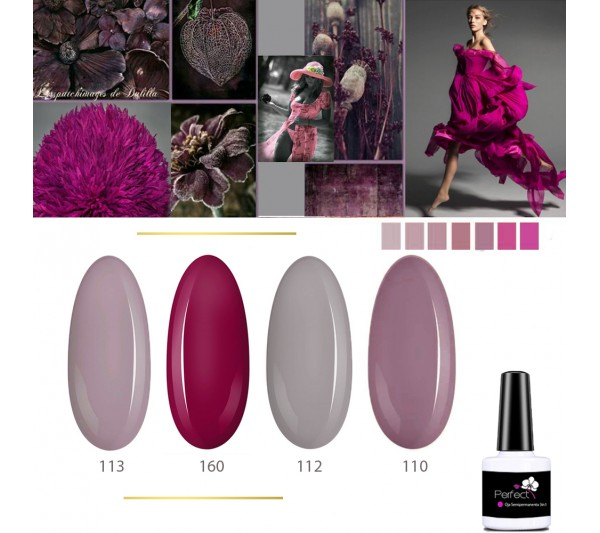 Set Inspiration 4 Oje Semipermanente unghii 3in1 One Step, 6ml cu Pensula, Modern Day TotulPerfect