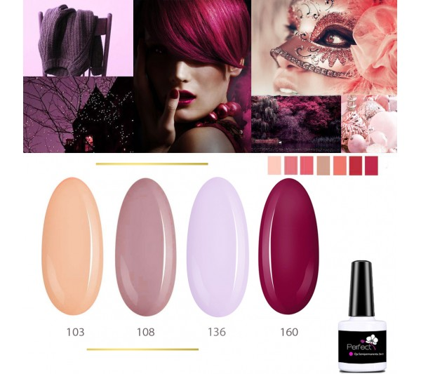 Set Inspiration 4 Oje Semipermanente unghii 3in1 One Step, 6ml cu Pensula, Chateau Wine TotulPerfect