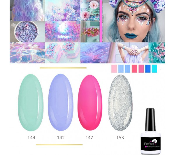 Set Inspiration 4 Oje Semipermanente unghii 3in1 One Step, 6ml cu Pensula, Infinity Sky TotulPerfect