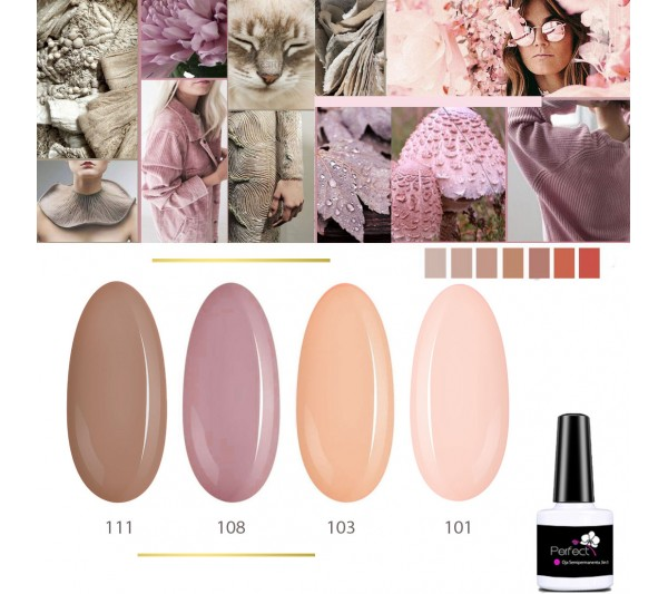 Set Inspiration 4 Oje Semipermanente unghii 3in1 One Step, 6ml cu Pensula, Dream Taupe TotulPerfect