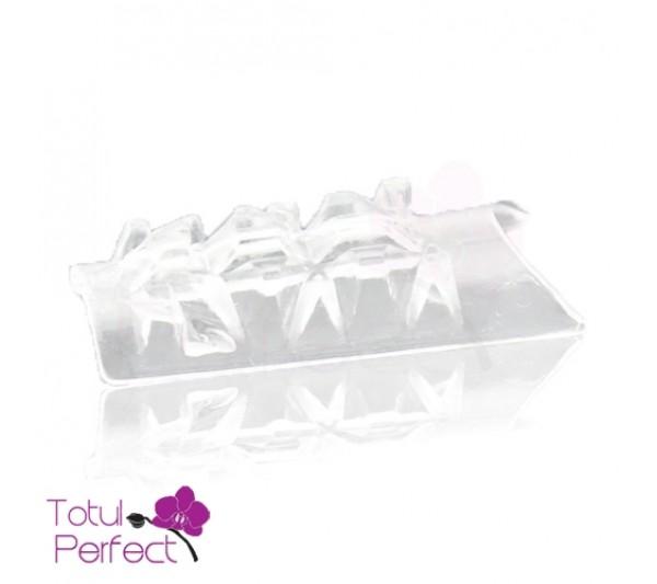 Tipsuri Transparente100 Bucati 3D Mozaic